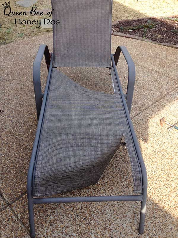 How To Repair Sling Chairs Chaises Diy Patio Furniture