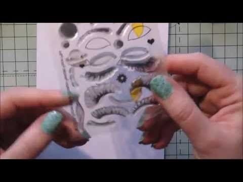 Paperbabe Stamps Female Face step by step - YouTube
