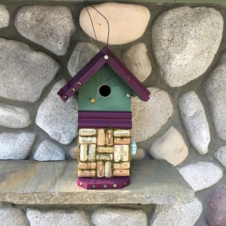 High Quality Birdhouse Handmade Wine Cork Decorative Birdu0027s House, Rustic Birdhouses For  Sale, Wooden Primitive Home