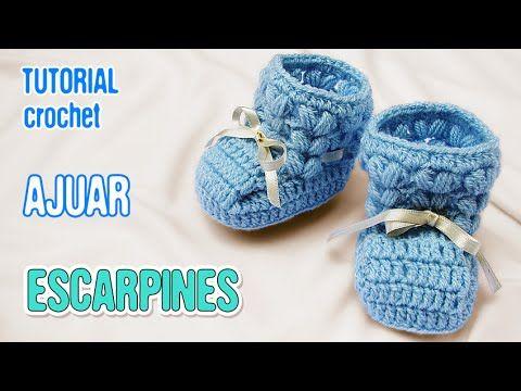 Tutorial #161: Ajuar Completo para Bebé Varón a Crochet o Ganchillo | CTejidas [Crochet y Dos Agujas]