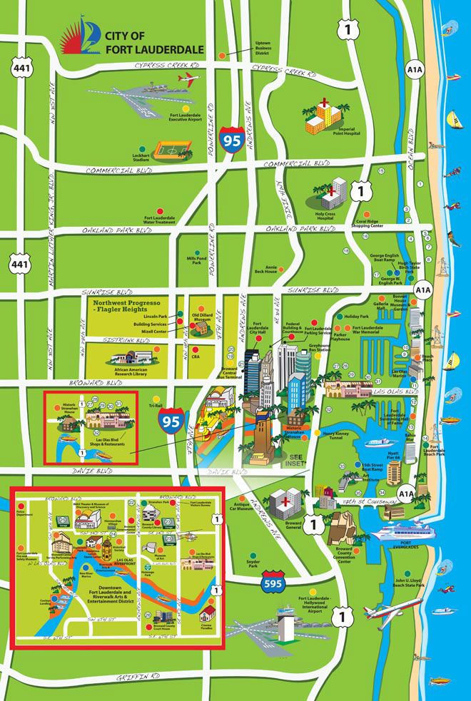 Fort Lauderdale Beach Map