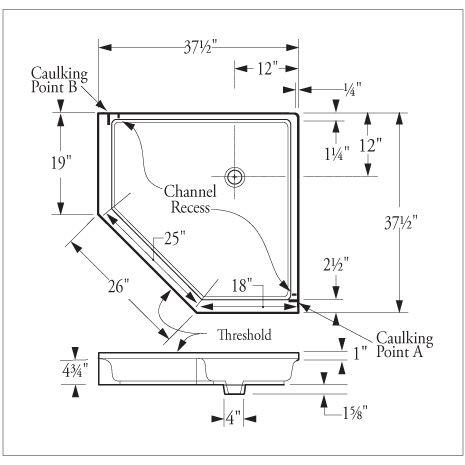 Dimensions Corner Shower Google Search Small Shower