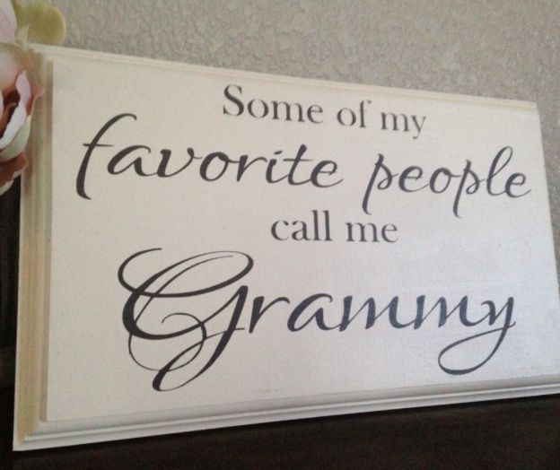 """Grandma Gifts on Mother's Day for Her:  Personalized """"Some of My Favorite People Call Me Grammy"""" Hand-Painted Sign by One Chic Shoppe @ Etsy"""
