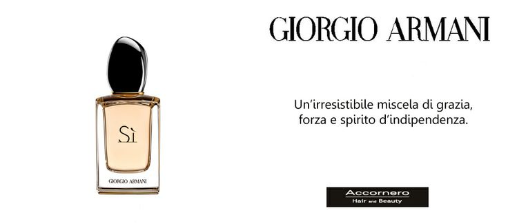 Giorgio Armani e la nuova fragranza Armani si'