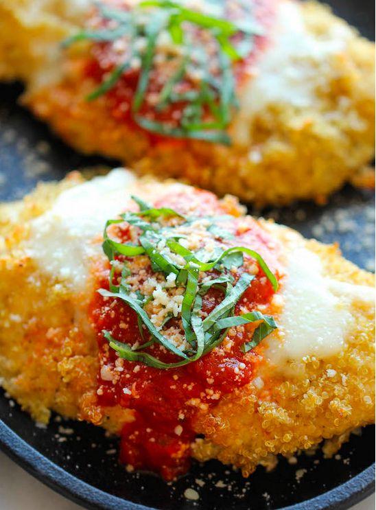 Quinoa Crusted Chicken Parmesan | 25 Quinoa Recipes That Are Actually Delicious