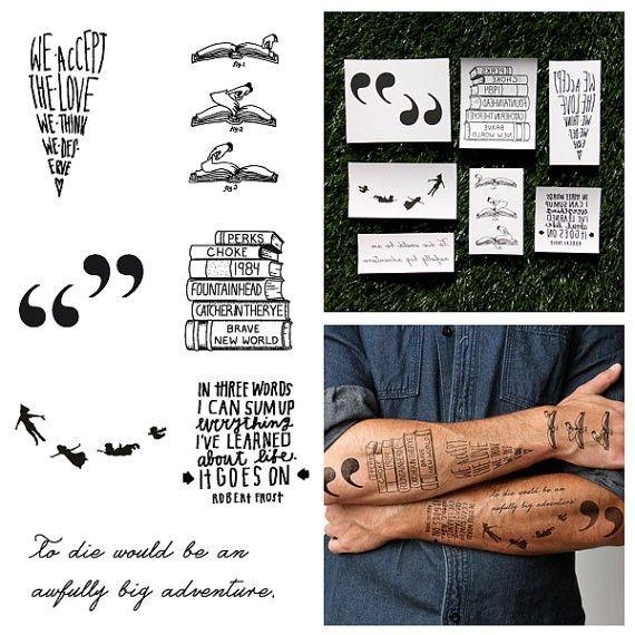 Literary temporary tattoos