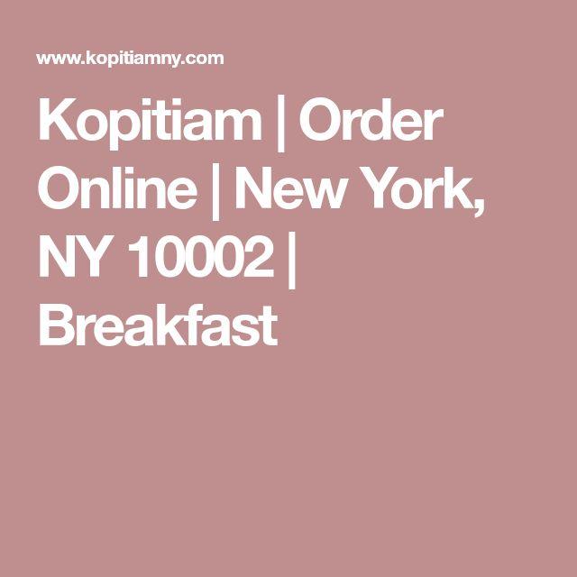 Kopitiam | Order Online | New York, NY 10002 | Breakfast