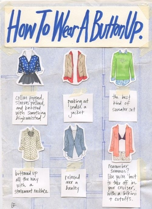 How to wear a button-up