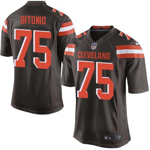 $24.99 Nike Game Joel Bitonio Brown Men's Jersey - Cleveland Browns #75 NFL Home