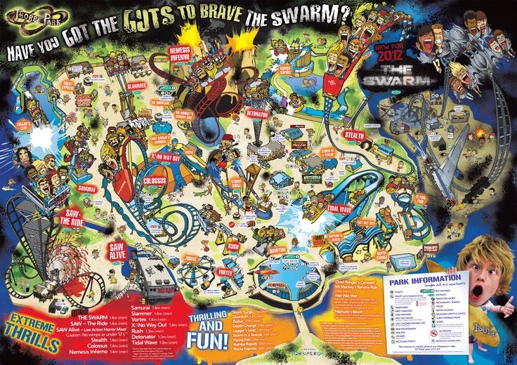 Park Map for THORPE PARK