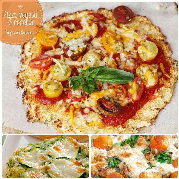 Pizza vegetal, 3 recetas deliciosas