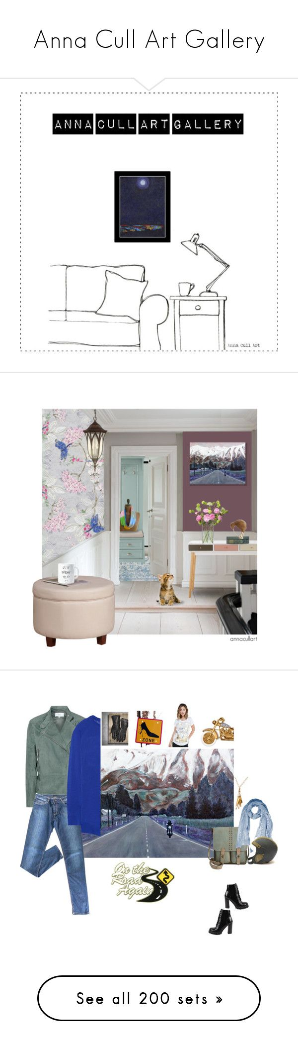 """""""Anna Cull Art Gallery"""" by annacullart ❤ liked on Polyvore featuring art, interior, interiors, interior design, home, home decor, interior decorating, Surya, Home Decorators Collection and LSA International"""