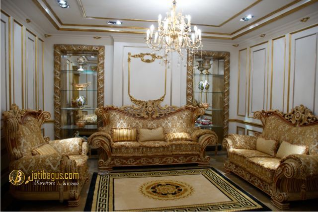 Set Kursi Tamu Sofa Richi Italian Lux Luxury