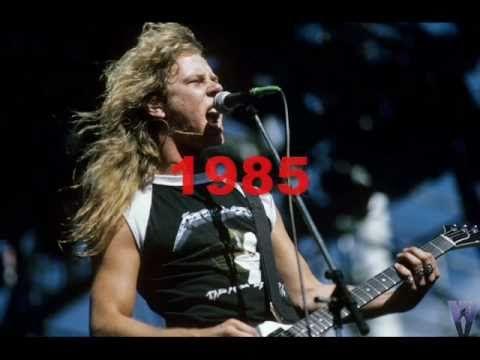 """James Hetfield: a """"evolução"""" de sua voz em """"Seek And Destroy"""""""