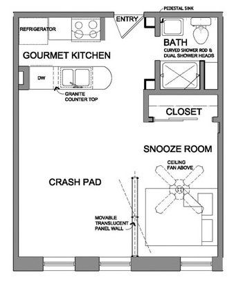 Floor plans for small spaces google search my cottage for Small condo floor plans