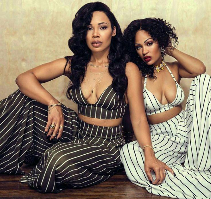 Lamiya and Megan Good ... stripes style