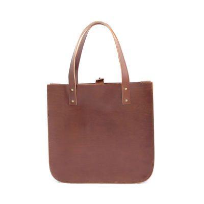 SILVIA tote bag in brown