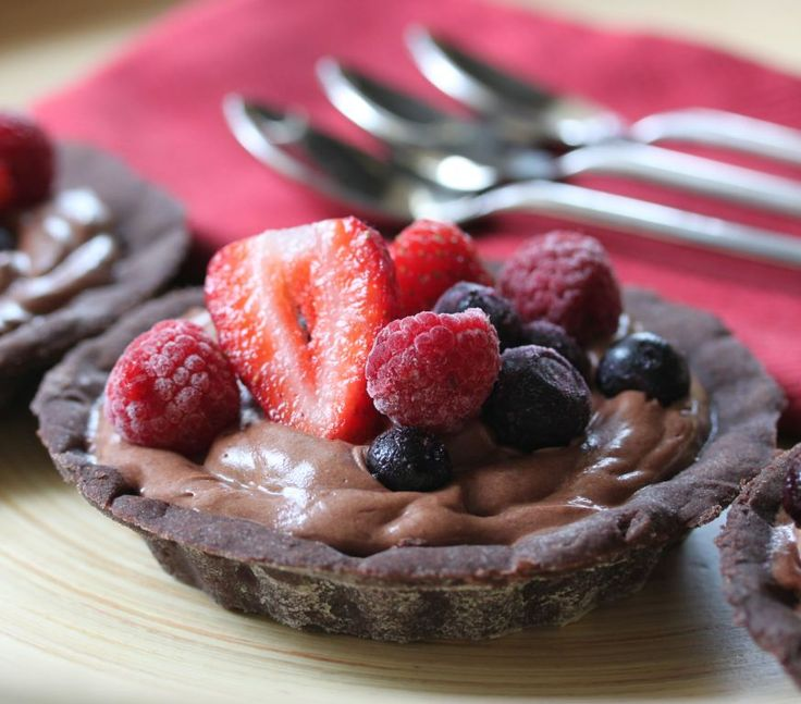 Olive Oil #Chocolate Mousse Tart #recipe for #Thermomix