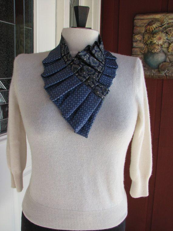 Silk Necktie Collar  Silk Necktie  Necklace  Unique by JUICYTANDEM, $37.00
