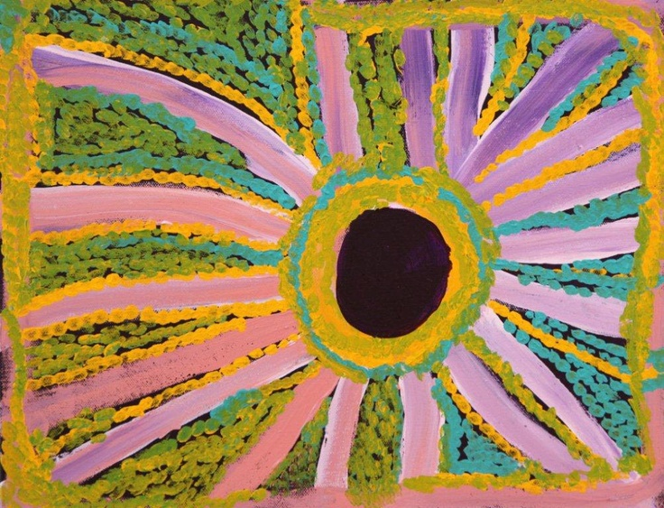 Nancy Patterson - 36x46cm - Rockhole, 2011 / IDAIA - International Development for Australian Indigenous Art