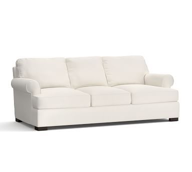 townsend upholstered grand sofa polyester wrapped cushions performance by cryptonr home ivory