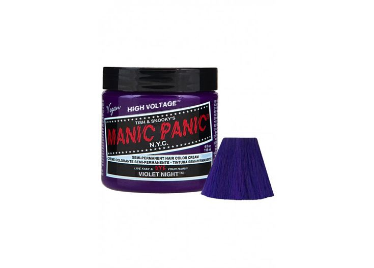 Manic Panic Violet Night Semi-Permanent Hair Dye - Size: One Manic Panic hair colour is the best of its kind. Made from guaranteed vegan and PPD free superior ingredients and never tested on animals. Manic Panics High Voltage Classic Hair Color Cream comes in a http://www.MightGet.com/february-2017-3/manic-panic-violet-night-semi-permanent-hair-dye--size-one.asp