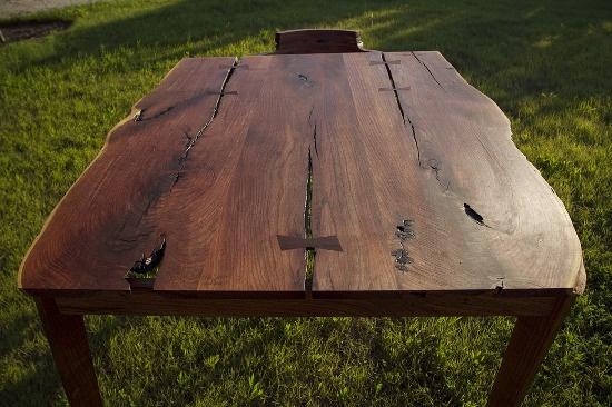 mesquite table/desk  Texas Mesquite / 48 (w) × 30 (h) × 36 (d) inches / 2012