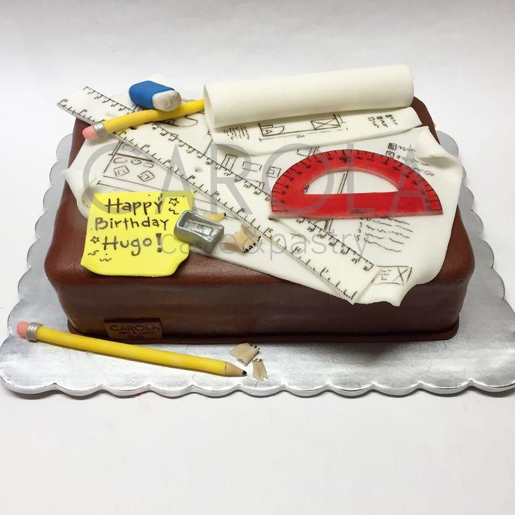 Pastel para arquitecto / Architect fondant cake