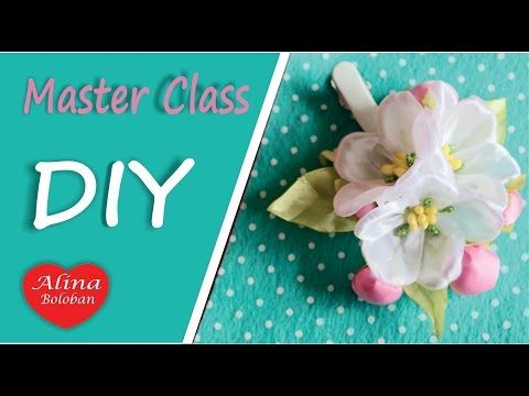 Цвет Яблони Мастер Класс / How to make: Apple Blossom from the Tape - YouTube