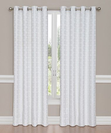This White Vue Miranda Woven Grommet Drapery Panel is perfect! #zulilyfinds