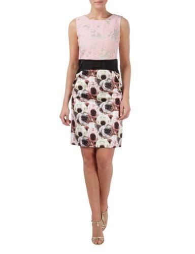 MARC-CAIN-COLLECTIONS Cocktailkleid mit floralem Muster und Zierschleife in Rosé online entdecken (9431963)   P&C Online