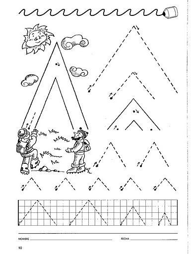 Mi Escuela Divertida: La Grafomotricidad : Fichas para Nivel Inicial y Preescolar