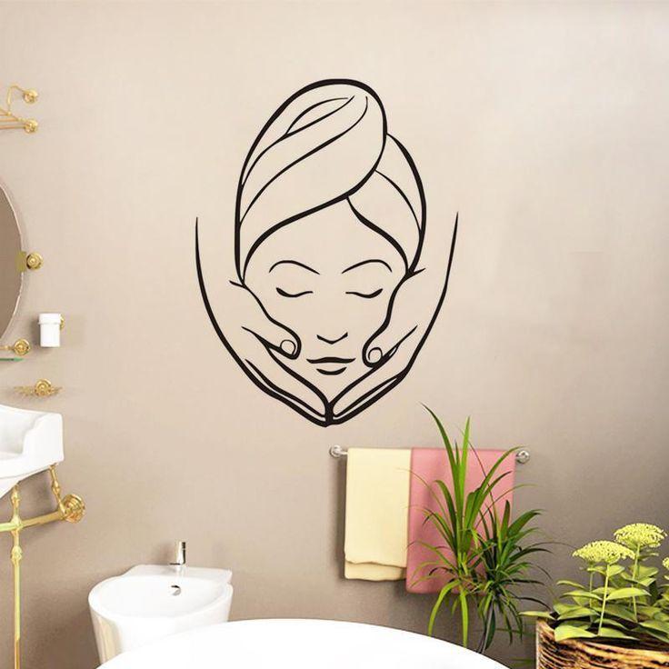 Buy Ehome Spa Beauty Salon Wall Stickers Creative Girl Massage Wall Murals Bathroom Wall Decorative Wall Deca Wall Decor Decals Girls Wall Mural Salon Wall Art