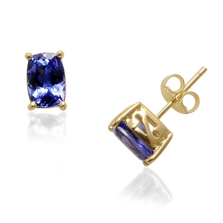 14k yellow gold tanzanite stud earrings liquidation channel for Liquidation tv