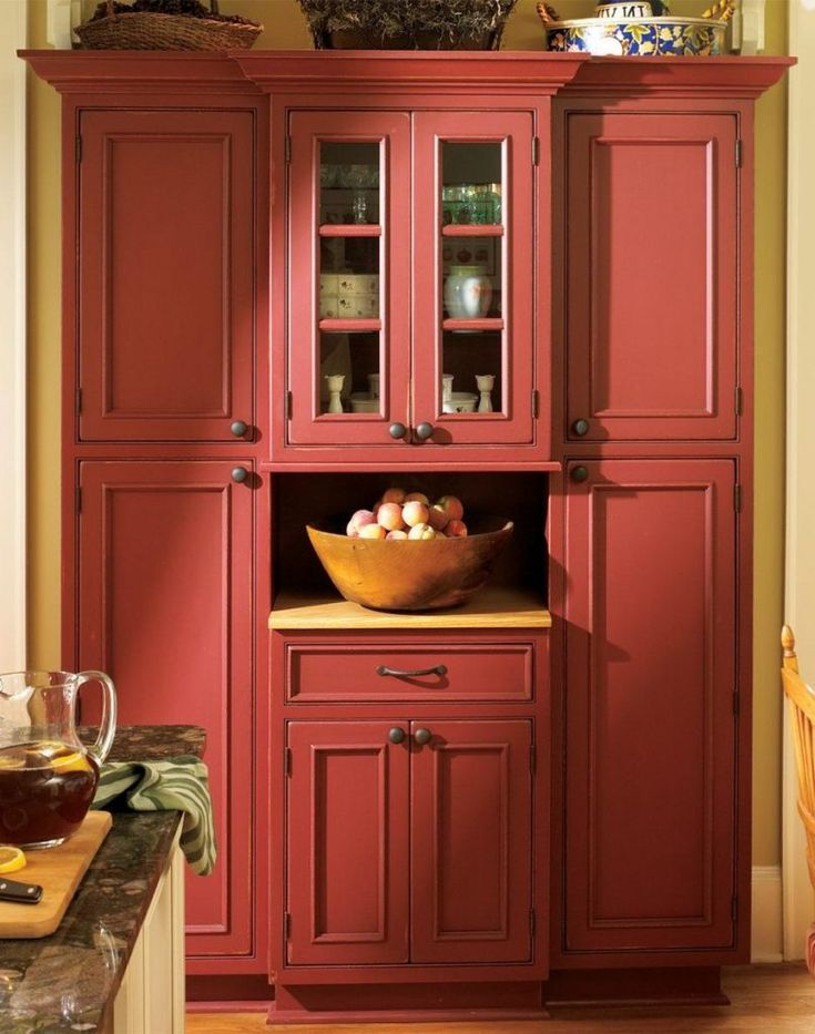 34 Great Farmhouse Kitchen Decor Ideas   Red kitchen ...