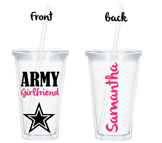 Personalized Army Girlfriend Tumbler Proud Army Girlfriend
