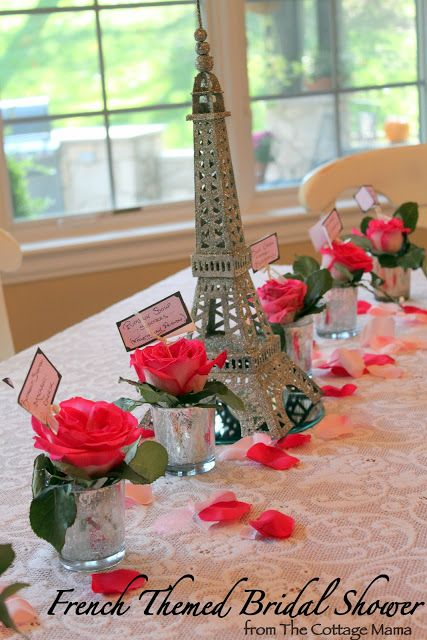 French Themed Bridal Shower - The Cottage Mama