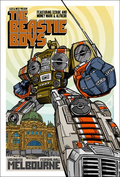 Beastie Boys, The by Rhys Cooper with a very Optimus looking poster