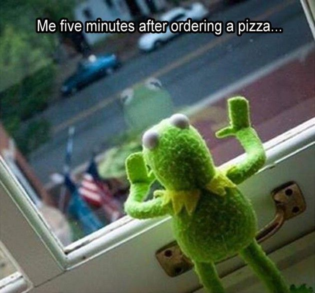 "get Kermit a #pizza! from Bill Y ""The Legend"" Ledden #humor #Humour"