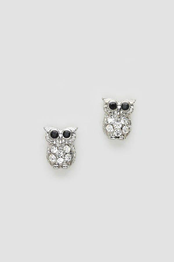 sparkly little owl earrings