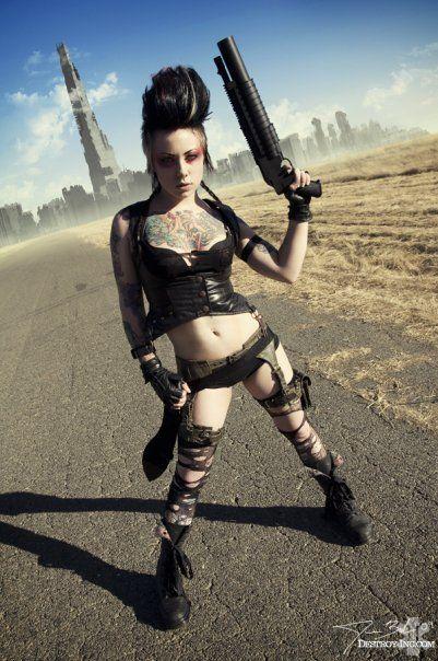 Ch joueur pour du Conan ou du Post-apo 84172cb9b535795276ae55b7e8642ddc--girl-guns-post-apocalypse