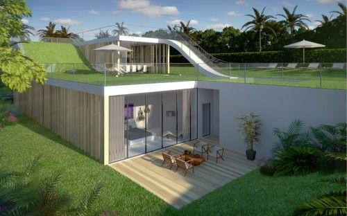 Modern House Design Sloping Site Garden Loop Concept   ArchInspire | Lake  Monticello Home | Pinterest | Modern House Design, Modern And House