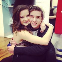Brooke Hyland and Nick Dobbs.  3/5 news for guests: Nick. This is Nick Dobbs. He is a 14 year old dancer at the A.L.D.C. He sometimes is a guests in a group dances with Abby's girls. Nick got to pick who was the lead of the dance. With no hesitation he quickly said Brooke. I thought Brooke and Nick looked cute with each other. Nick did great in the group dance. Next time Nick comes, I hope he gets a duet or a trio, or maybe even a solo.