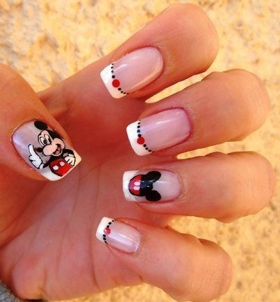 Mickey Mouse Nails for my Disney world trip in April :-)