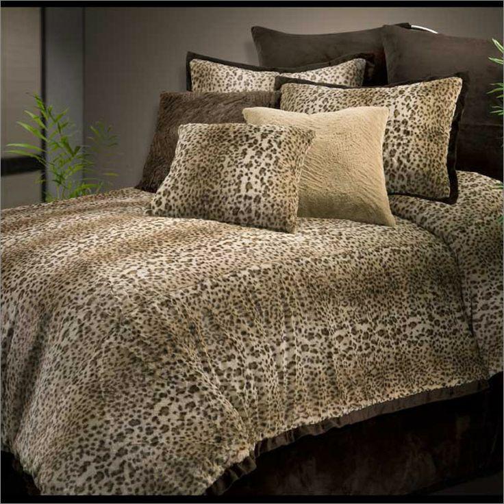 veratex cheetah fur comforter set air beds sheets mattresses and bedding accessories