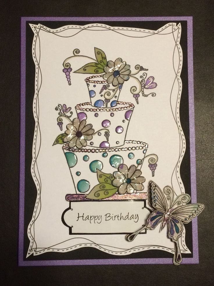 Card made using House of Zandra stamps.