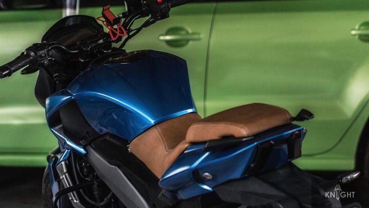 Bajaj Dominar 400 custom wrap by Knight Auto Customizer taillight