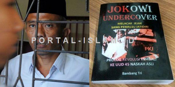 "Penulis Buku ""Jokowi Undercover"": Jika Jokowi Tak Berani Tes DNA Berarti Saya Tidak Berhak untuk Ditahan  [PORTAL-ISLAM]Sidang dengan agenda pembacaan putusan bagi penulis buku ""Jokowi Undercover"" Bambang Tri Mulyono digelar di Pengadilan Negeri Blora Jawa Tengah Senin 29 Mei 2017. Sidang dimulai dari pukul 11.30 WIB mundur satu setengah jam dari jadwal semula. Dengan santai Bambang yang berkemeja putih dan berkopiah hitam memasuki ruang sidang Cakra. Namun sebelum masuk Bambang yang ditemui…"