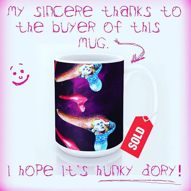 Sold!!!..thanks to the buyer of this bowiesque mug from my Society6 webshop. #handpainted #sold #society6 #bowiefans #davidbowie #popart #bowiesque #thankyou #giftideas #musicfan #bowielicious #instabowie #starman #rocklegends #design  #art #instaart #artist #artistsofinstagram #instalike #instalikes #instaartist #artist_sharing #artnerd #artsy #artcollective #artistlife #artlife #supportart