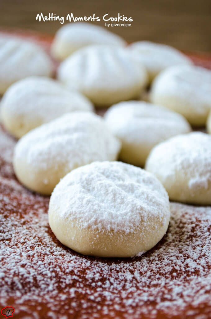 Melting Moments Cookies are literally melting in your mouth. Cornstarch makes the magic. Very easy to bake. They make perfect edible gifts!
